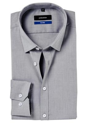 Seidensticker Shaped Fit overhemd, grijs