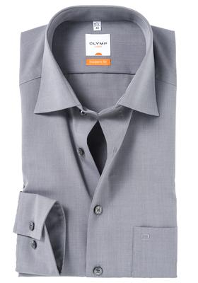 OLYMP Luxor modern fit overhemd, grijs fil a fil