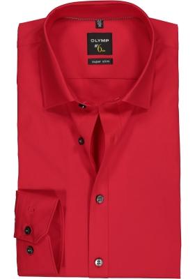 OLYMP No. Six super slim fit overhemd, rood