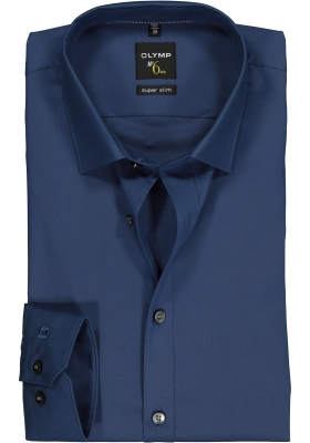 OLYMP No. 6 Six, Super Slim Fit overhemd, blauw