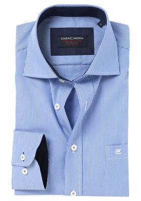 Casa Moda Comfort Fit overhemd, blauw gestreept (contrast)