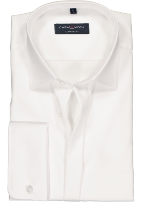 CASA MODA comfort fit smoking overhemd, dubbele manchet, wit