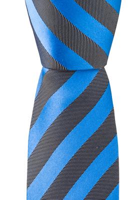 Eterna  stropdas, blauw-zwart-gestreept