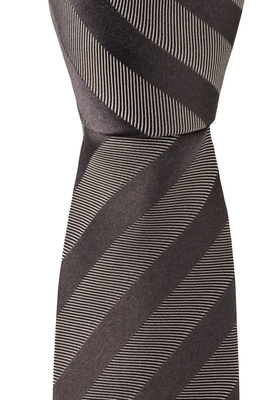 Eterna  stropdas, zwart gestreept