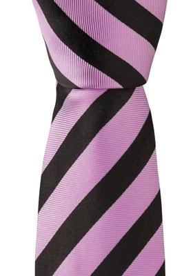 Eterna  stropdas, roze gestreept