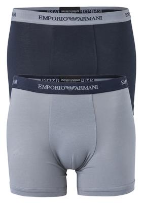 Armani Boxers (2-pack), blauw en grijs