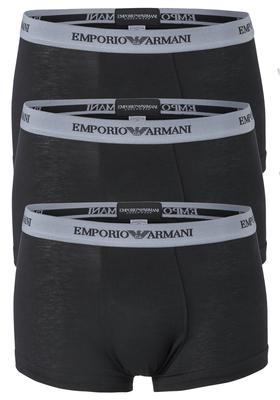 Emporio Armani Trunks Essential Core (3-pack), heren boxers kort, zwart