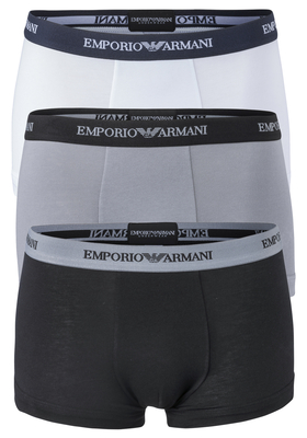 Armani Trunks (3-pack), wit, zwart en grijs