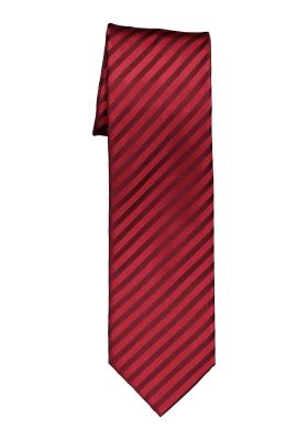 OLYMP stropdas, rood-bordeaux gestreept