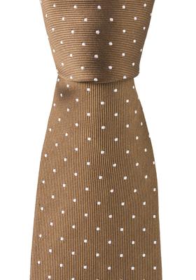 OLYMP smalle stropdas, beige gestipt