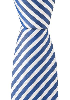 OLYMP stropdas, blauw-wit gestreept