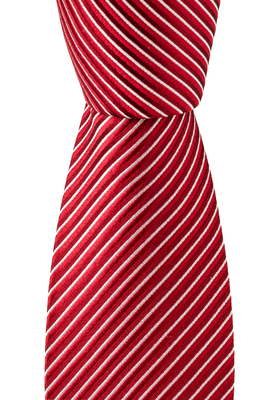OLYMP stropdas, rood-grijs gestreept