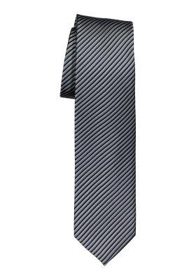 OLYMP stropdas, grijs gestreept