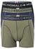 Muchachomalo boxershorts, 3-pack, blauw, groen, zwart
