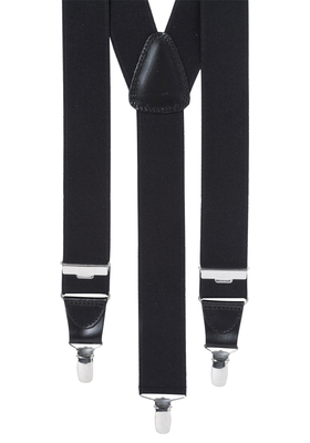 Bretels breed, zwart