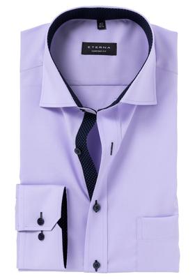 ETERNA Comfort Fit overhemd, lila (blauw contrast)
