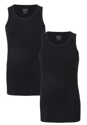 Claesen's Rib Singlet (2-pack), zwart