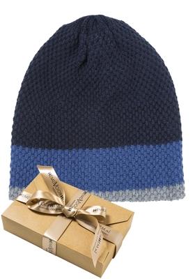 Muts, blauw-kobalt-grijs (in cadeauverpakking)