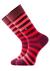 Burlington herensokken, rood gestreept (in cadeauverpakking)