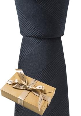 Smalle stropdas, zwart (in cadeauverpakking)