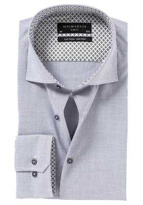 Michaelis Slim Fit overhemd, lichtgrijs (contrast)