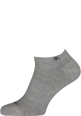 Burlington Everyday heren enkelsokken (2-pack), katoen, licht grijs