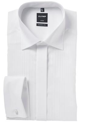OLYMP Modern Fit Smoking overhemd, structuur streep stof (kent kraag)