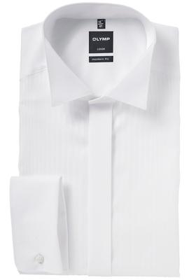 OLYMP Modern Fit Smoking overhemd, structuur streep stof (wing)