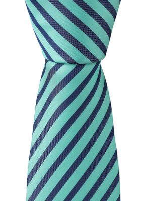OLYMP stropdas, blauw-groen gestreept