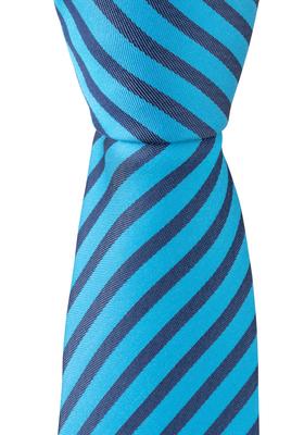 OLYMP stropdas, blauw-turquoise gestreept