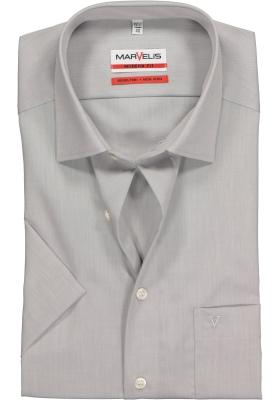 MARVELIS Modern Fit, overhemd korte mouw, grijs