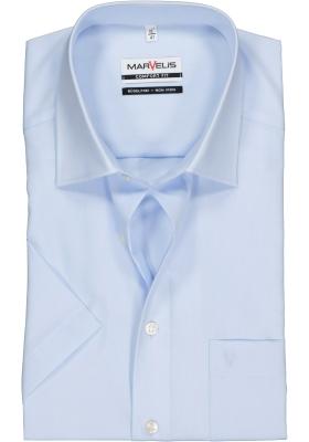 MARVELIS comfort fit overhemd, korte mouw, lichtblauw