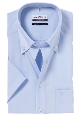 MARVELIS Comfort Fit, korte mouw, lichtblauw (button-down)