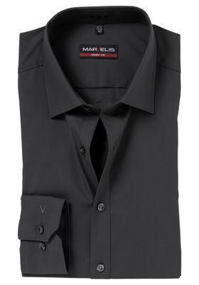 MARVELIS Body Fit overhemd, donker antraciet