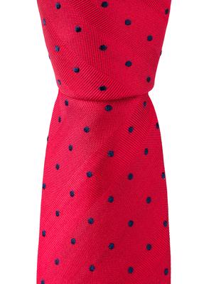 Eterna  stropdas, rood met blauwe stip