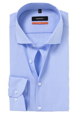 Seidensticker Slim Fit overhemd, lichtblauw Fil à Fil