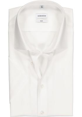 Seidensticker slim fit overhemd, korte mouw, wit
