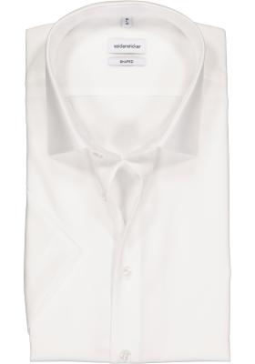 Seidensticker Shaped Fit overhemd korte mouw, wit