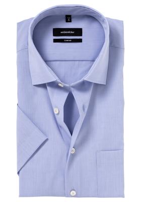Seidensticker Comfort Fit overhemd, korte mouw, lichtblauw