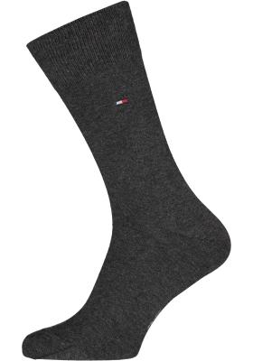 Tommy Hilfiger Classic Socks (2-pack), herensokken katoen, antraciet melange