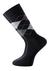 Voorbeeld van de zwart geruite sokken