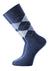 Voorbeeld van de jeans blauw geruite sokken