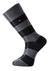 Voorbeeld van de zwart gestreepte sokken