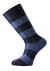 Voorbeeld van de blauw gestreepte sokken