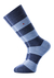 Voorbeeld van de jeans blauw gestreepte sokken
