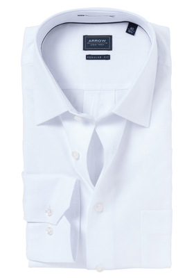 Arrow Regular Fit overhemd, wit structuur