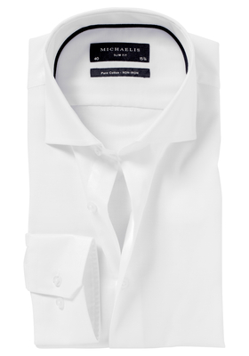 Michaelis Slim Fit overhemd, wit Oxford