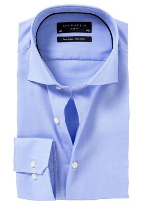 Michaelis slim fit overhemd, Oxford, lichtblauw