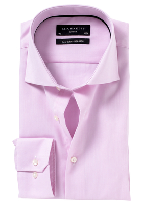 Michaelis Slim Fit overhemd, roze Oxford