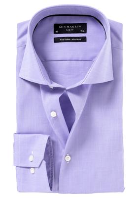 Michaelis Slim Fit overhemd, lila Oxford